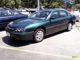 2001 Dark Jade Green Metallic Chevrolet Impala #33548489 ...