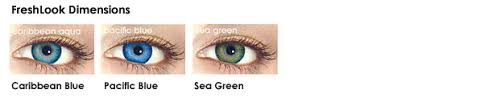 Freshlook Colored Lenses Color Examples