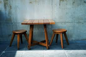 outdoor cafe table and chairs. Download Wooden Table And Chairs In Outdoor Cafe Stock Image - Of Dining, Centre