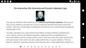 These are used to avoid misunderstanding due to difficult. Interactive Ipa Apps I Google Play