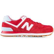 new balance shoes red. new balance classics 574 womens shoe ($58) ❤ liked on polyvore featuring shoes, shoes red