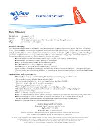 Flight Attendant Resume Experience Entry Level For Delta Airlines