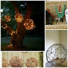 do it yourself outdoor lighting. make balls from grapevines or wires and wrap icicle lights around them to create glimmering orbs do it yourself outdoor lighting