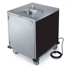 lakeside 9600 portable self contained stainless steel hand sink cart with cold water faucet soap dispenser