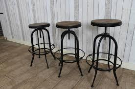 Industrial style bar stools Ikayaa Peppermill Interiors Bar Stools Vintage Industrial Style Steel Swivel Stools