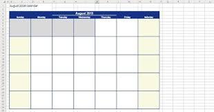 Editable August 2019 Calendar Excel 2020 Calendar