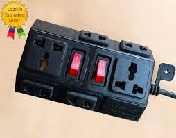 Chỉ 112,000đ - Ổ cắm điện 5m chịu tải 2500W VINAKIP - ổ cắm điện đa năng 6  ngả 2 công tắc