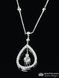 сustom pear halo diamond pendant