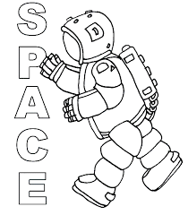 Small Picture Printable Astronaut Coloring Pages New In Creative Online