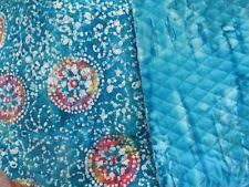 Double Sided Quilted Fabric | eBay & Double-sided Quilted Fabric, BLUE BATIK, MEDALLION, AQUA, 5 YDS AVAILABLE Adamdwight.com