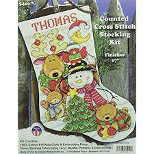 Cross Stitch Stocking Patterns Stunning Counted Cross Stitch Christmas Stocking Kits Amazon