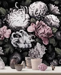 Dark Floral Wallpaper / Japanese ...