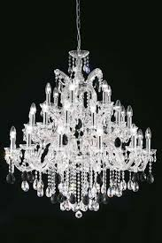 clear bohemian crystal chandelier in chrome plated metal masiero