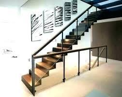 Basement Stair Designs Extraordinary Stair Wall Railing Uvalue