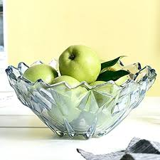 glass fruit bowl glass fruit bowl creative ice love deep bowl large size dream blue continental glass fruit bowl