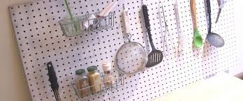 Pegboard Kitchen Diy Pegboard To Declutter Your Kitchen Abc News