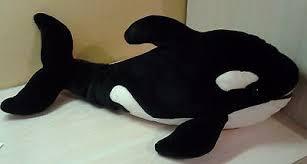 4 of 7 alley large 24 orca whale plush shamu stuffed toys r us geoffrey