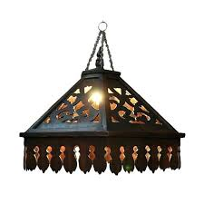 stained glass hanging light fixtures vintage stained glass hanging light fixture