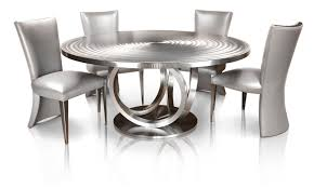 stainless steel dining table luxury 66 round stainless steel metal dining table by oios metals