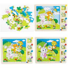 2019 3d wooden preschool educational kids toys for children toddler multilayer 3d animals stories jigsaw puzzles boys girls infants from kareem11