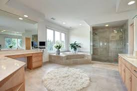 contemporary master bathroom with carpet limestone tile floors bathroom area rugs contemporary master bathroom with built