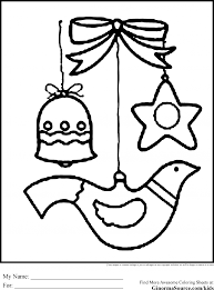 Small Picture Coloring Pages Printable Christmas Coloring Pages Ornaments