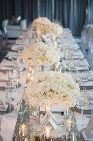 White wedding centerpieces Romantic White Roses Winter Wedding Centerpiece Deer Pearl Flowers 40 Stunning Winter Wedding Centerpiece Ideas Deer Pearl Flowers