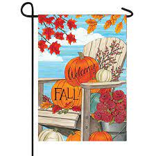 fall adirondack welcome flag lawn and