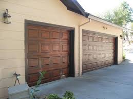 how to paint metal garage doors to look like wood