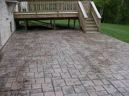 stamped concrete patio cost calculator. Stamped Concrete Patio Cost For Home Design Ideas With Deck Plus Stair And Railings Calculator O