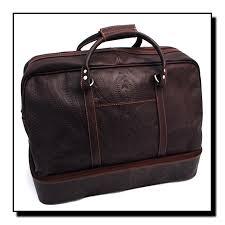 ropin west leather hand tooled false bottom valise dj 8394