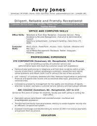 Teacher Objective Resume Resume Receptionist Resume Sample Objective For Teacher