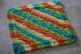 Easy Knit Dishcloth Pattern Beauteous Dish Cloth Knitting Pattern The Sweatshop Of Love Blog