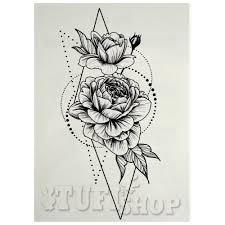 временное тату розы в геометрии 5002