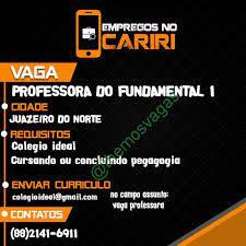 Professor(a) / 01 vaga(s) / Juazeiro do Norte – CE   Themos Vagas    Empregos e EstágiosThemos Vagas