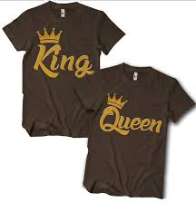 Nice Couple Shirt Designs King And Or Queen Couples T Shirt King Queen Shirts