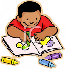 0511 0903 1003 0810 african american boy coloring a picture clipart image within coloring book clipart