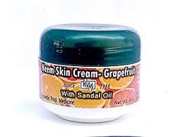 Neem Sandal Skin Cream with Grapefruit (100% Ayurvediya product with ...