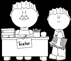 teacher desk clipart black and white. Wonderful Desk Black And White Male Teacher Student In Desk Clipart And G