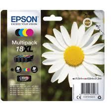 Epson <b>18XL</b> Black & Colour High Capacity Ink Cartridge <b>4 Pack</b> ...