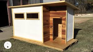 Fifth Dimension Design and Attaway Renovations created this modern doghouse  as one of the 15 teams