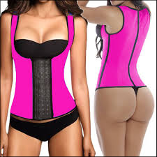 waist vest workout latex waist cincher vest sport waist corsets women slimming body shaper