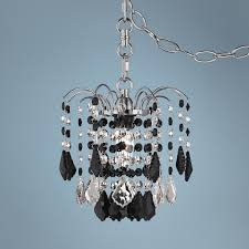 plug in crystal chandelier
