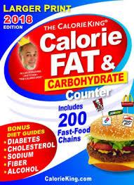 Food Calorie Book The Calorieking Calorie Fat Carbohydrate Counter 2018 Larger