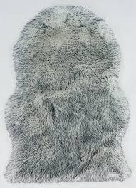 faux fur rug grey faux fur sheepskin rug grey tipped x cm gray faux fur rug