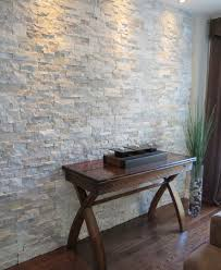 Interior Stone Accent Walls contemporary-living-room