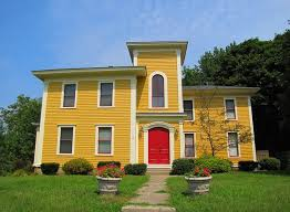 houses with red doors yellow house red door flickr photo sharing and two guards