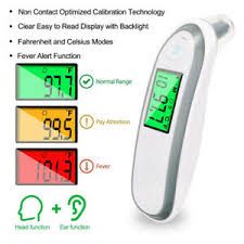 Details About Baby Adult Digital Infrared Body Thermometer Forehead Ear Infant Temperature Dat