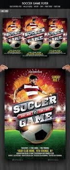 Sports Flyer Template Soccer Game Flyer Template Soccer games Flyer template and Template 1