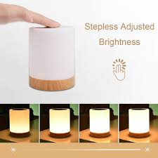 Kmashi Led Bedside Table Lamps Touch Lamp Rechargeable Warm White